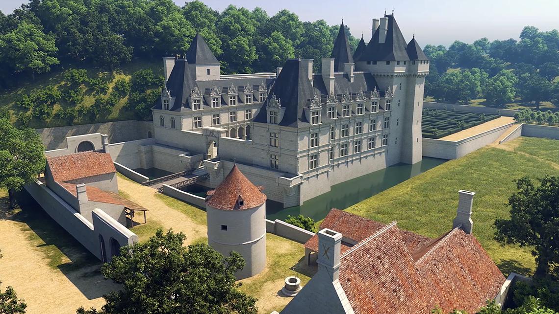 Patrimoine Numérique Tours Film Documentaire 3D Château Villandry