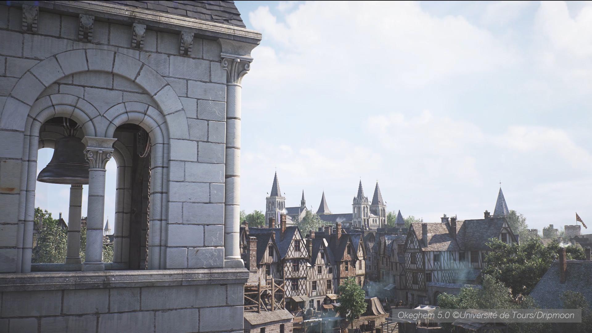 Modélisation 3D collégiale Saint Martin et une partie de la ville de Tours au XVème siècle - Agence Dripmoon à Tours