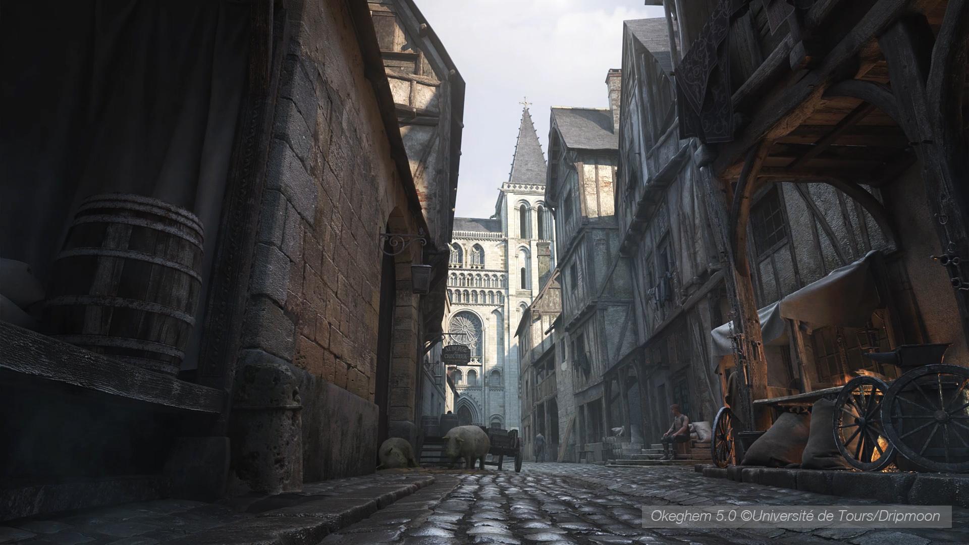 Modélisation pour restitution 3D de la ville de Tours au XVème siècle par l'agence Dripmoon