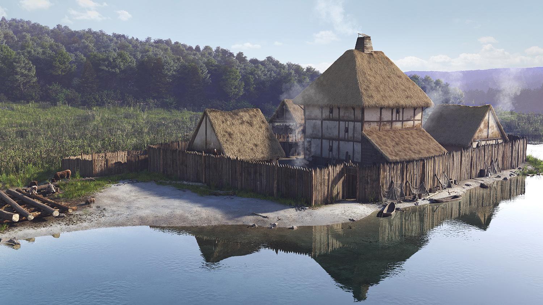 Lac de Paladru film 3D restitution du site médiéval de Colletière